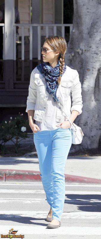 Alba....gama de azules...: Alba Gama De, Jessica Style, Celebrity Style, View Full, Alba Stil, Jessica De Alba, Jessica Alba