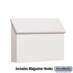 Traditional Mailbox Standard Horizontal Style White
