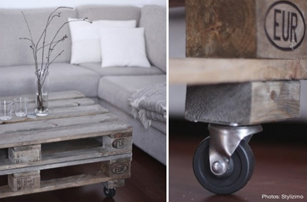 Ξύλινες παλέτες σε διακοσμητικές περιπέτειες