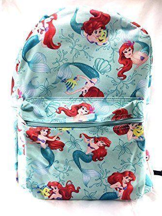 Disney Princess Little Mermaid Allover Print 16' Girls Large School Backpack. #Disney #Princess #Little #Mermaid #Allover #Print #Girls #Large #School #Backpack