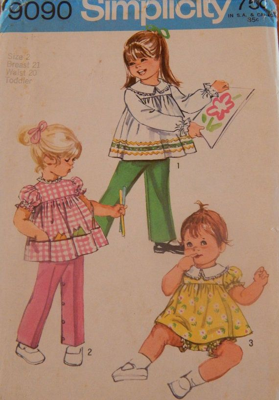 Toddler Top Pants and Bloomers in Size 2