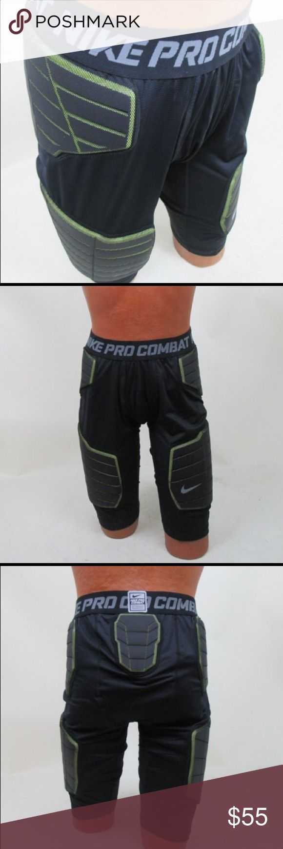 Nike Pro Combat Compression Shorts NWT no wear!  Provides protection on thighs, hips and tailbone as well as comfort with Dri-Fit technology and stretch mesh flexibility. Nike Shorts Athletic