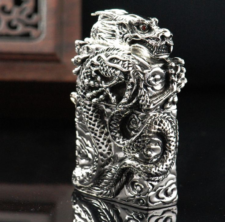 Top Dragon 925 Silver Lighter
