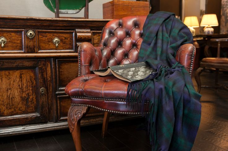 Buy Blackwatch Tartan 100% Cashmere Throw by Scot Meacham Wood Design - Quick Ship designer Accessories from Dering Hall's collection of Traditional Throws.