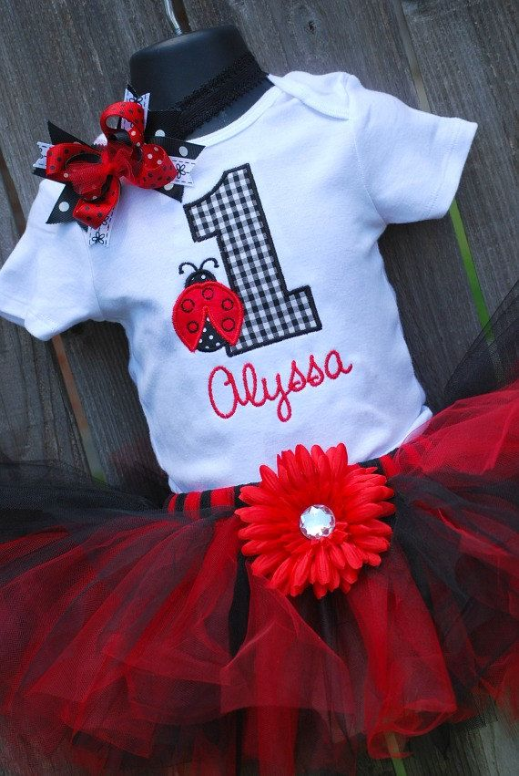 Ladybug 1st 2nd 3rd 4th 5th birthday by sewglamourouscreatio, $45.00