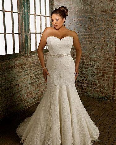 wedding dress for curvy plus size bride