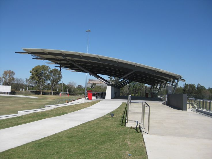 Ritek roof panels huge spans are ideal for applications such as grandstand.