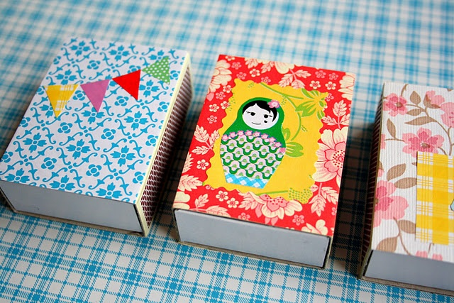 Cute matchboxes -- Perhaps put a small candy or chocolate inside with a short fun quote.
