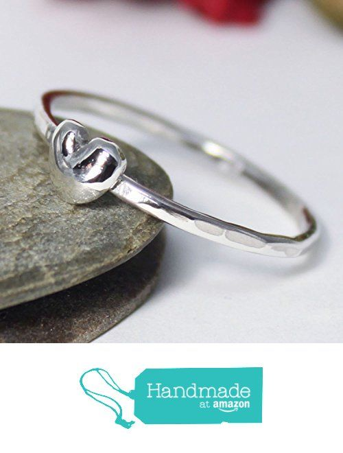 Little Silver Heart Stacking Ring, Statement Ring, Tiny Silver Heart Band Ring, Silver Stacking Ring, Simple Ring, Hammered Ring, Heart Ring from rosajuri https://www.amazon.com/dp/B07213ZH3Z/ref=hnd_sw_r_pi_dp_WGzwzbZYB3R2X #handmadeatamazon