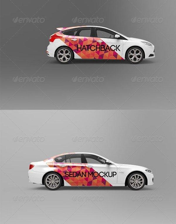 45 Car Mockup Psd For Cars Branding Wrapping In 2021 Car Branding Car Wrap