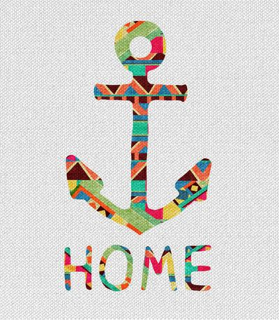 This is fabulous. Get a colorful painting and paint all but an object. I've seen it with words, but I like the idea of doing a sailboat or something instead of words.