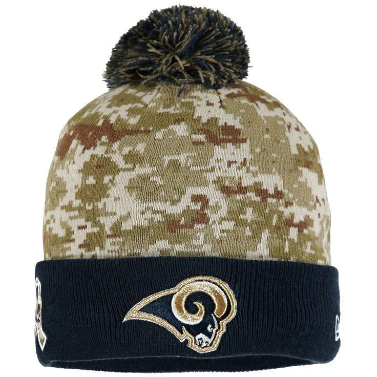 Los Angeles Rams New Era Youth On Field Sport Salute to Service Knit Hat - Camo - $18.39