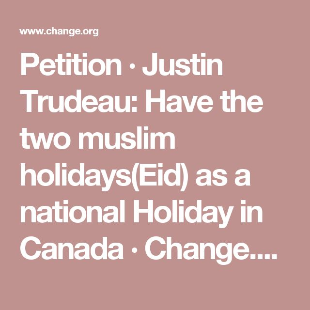 Make Eid A National Holiday Petition