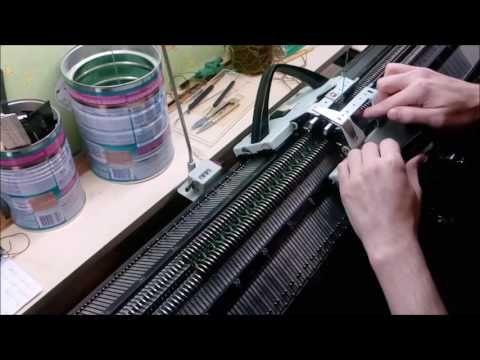 "Перчатки ""Без швов"" на вязальной машине Доплета ( Dopleta, Dopleta 382) - YouTube"