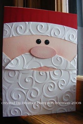 Cute Santa card made with CB D'vine Swirl folder