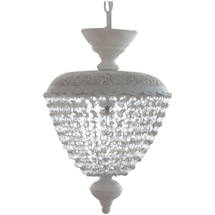 Cream Chandelier with Eyelet Pattern