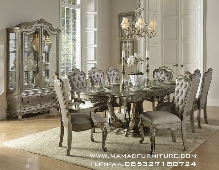 Furniture Jepara Set Meja Makan Ukiran Jepara Mewah Minimalis Set Meja Makan Ukiran Jepara Mewah Minimalis - Adalah produk terbaru kami yang berkualitas Tinggi yang kami tawarkan dengan harga yang sangat terjangkau.