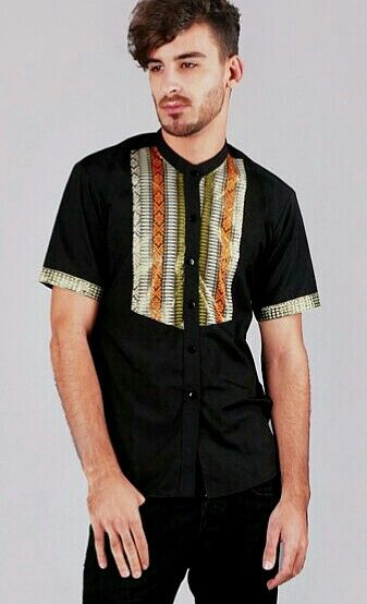 Mavazi summer menswear - simple & dynamic with Songket ( South Sumatera weaving fabric )