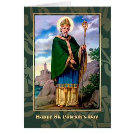 Saint Patrick's Day Blessings Religious Cards - click/tap to personalize and buy