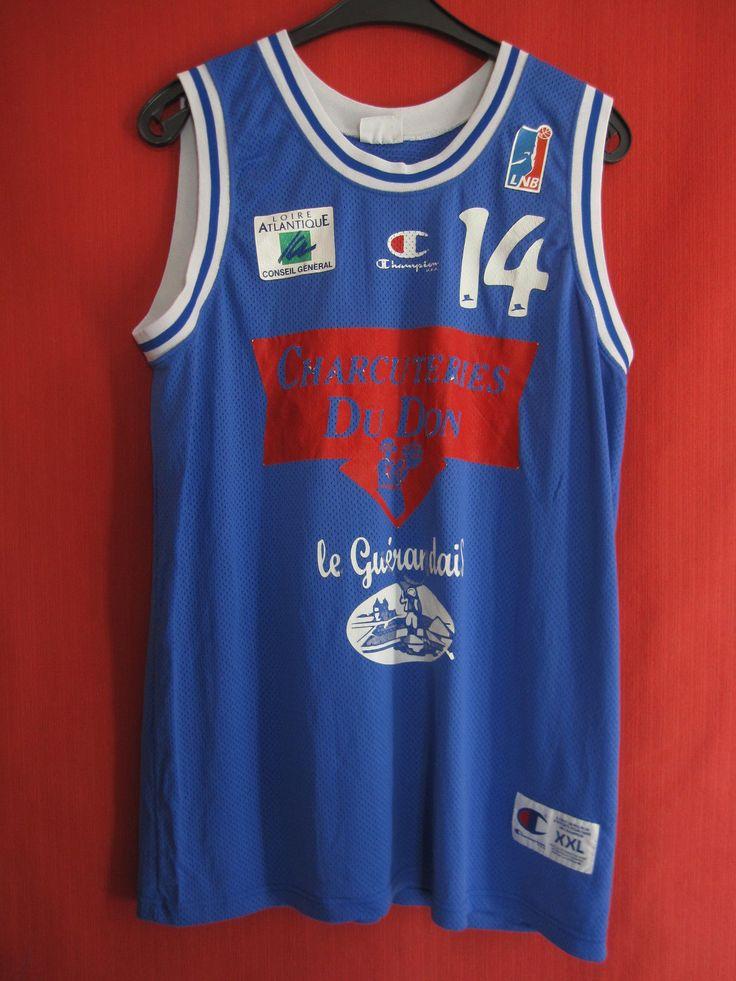 Maillot Basket Porté n°14 Loire Atlantique guerande TREILLIERE Vintage - XXL