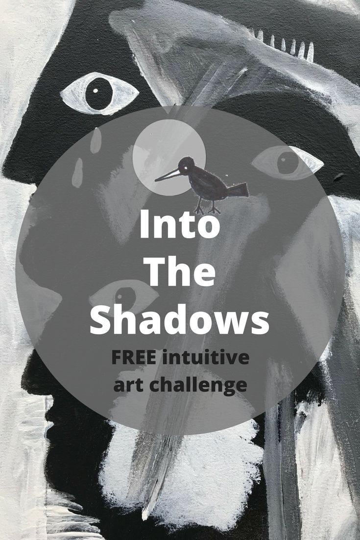 INTO THE SHADOWS: FREE intuitive art challenge with Tracy Algar