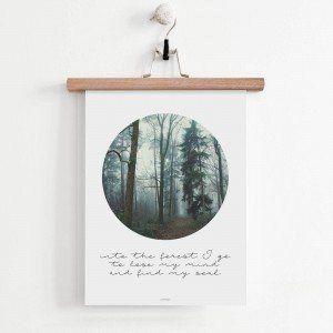 Plakat skandynawski: Scandinavian forest