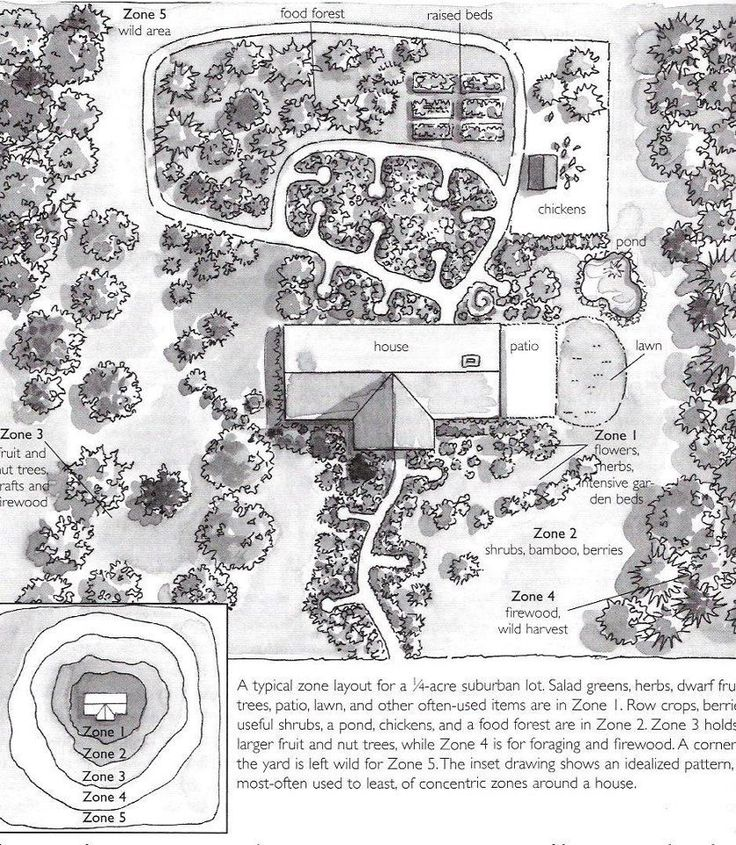 Permaculture. I love this template with zones for planting and I'm absolutely going to do this at the acreage! If you like this kind of thing, check out www.permies.com where they talk about this kind of thing all the time.