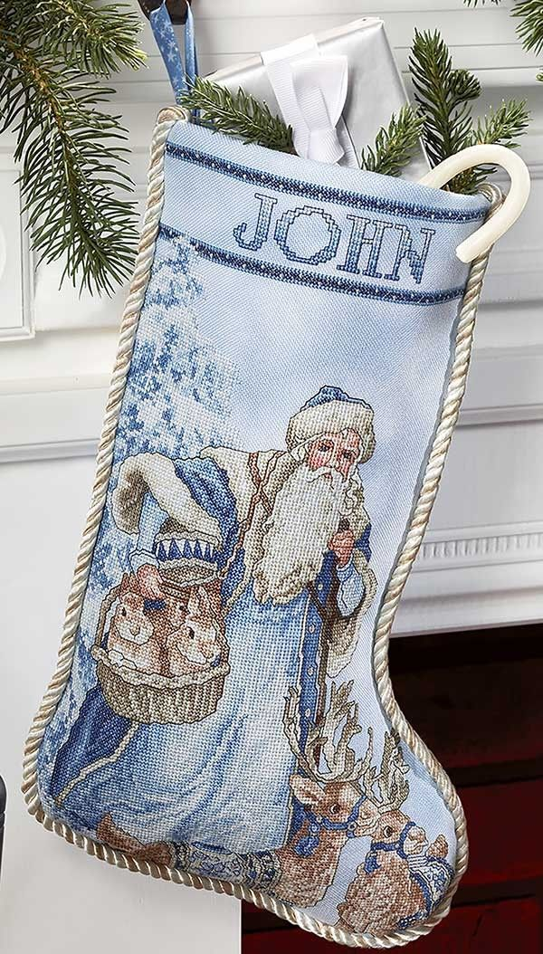 Wool Needlepoint Christmas Stockings