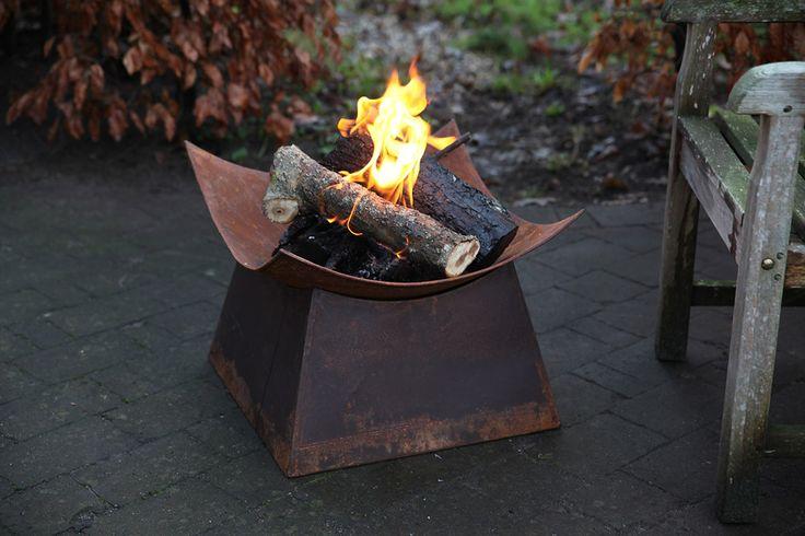 Esschert Design FF153 Rust firebowl square