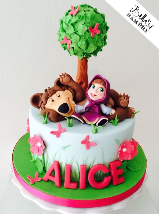 36 best Masha and the Bear Cakes images on Pinterest Bear cakes