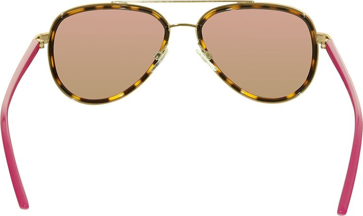 Michael Kors Women's Aviator Sunglasses, Tortoise Gold Fuschia/Pink, One Size