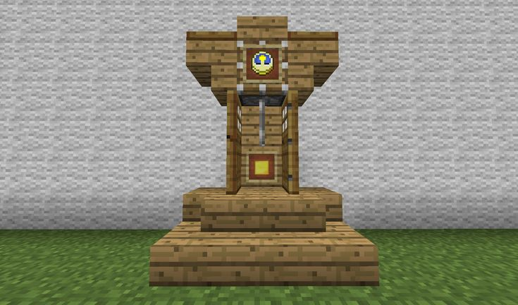 How to build a grandfather clock in minecraft for Minecraft carpentry bench