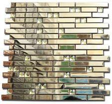 mosaik fliesen metall diamant spiegel glnzend effekt mosaik fliese gold 30x30cm - Mosaik Flie