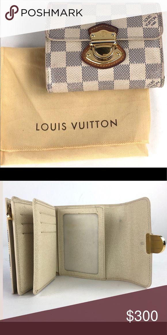 Louis Vuitton Damier Azur Koala Wallet Used Authentic Louis Vuitton Damier Azur Koala Trifold Wallet Louis Vuitton Bags Wallets