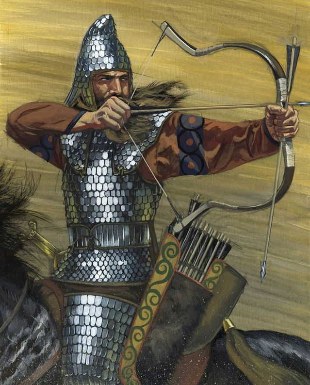"""The Scythians were a nomadic tribe that dominated the steppes for nearly five hundred years. The Scythians spoke a tongue from the Northeastern Iranian language family. The Scythians were renowned for their ability to shoot their arrows with deadly accuracy from horseback. This talent astounded their neighbors, who referred to them as the """"horse-bowmen."""" The greatest amount of territory under Scythian influence extended west to east from Ukraine to an area of Siberia just above Mongolia."""