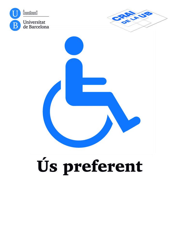 2013 - Senyalització - Espai d'ús preferent per a persones amb discapacitat