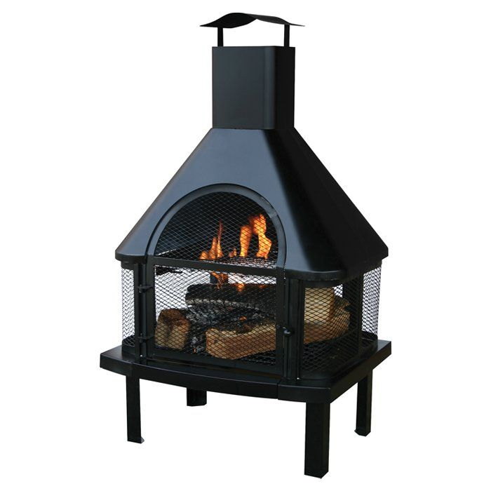 Tignes Wood Burning Outdoor Fireplace