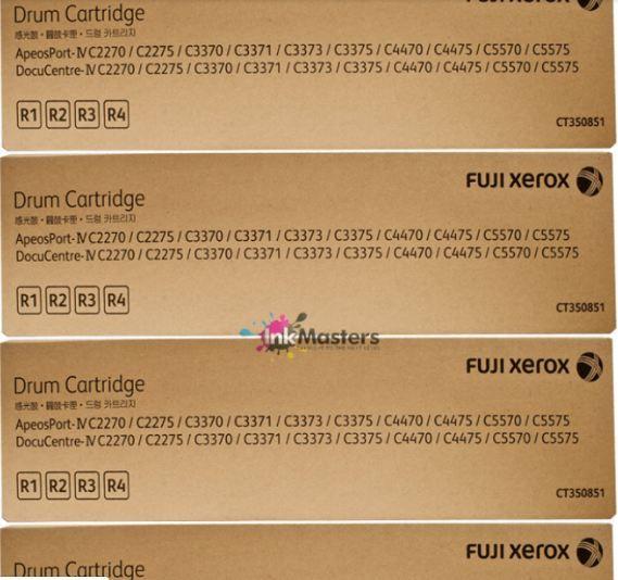 4 Pack Cmyk Fuji Xerox Ct350851 Drum Cartridge R1 R2 R3 R4