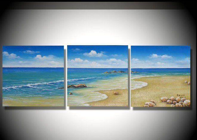 DIY Beach Wave Painting Series
