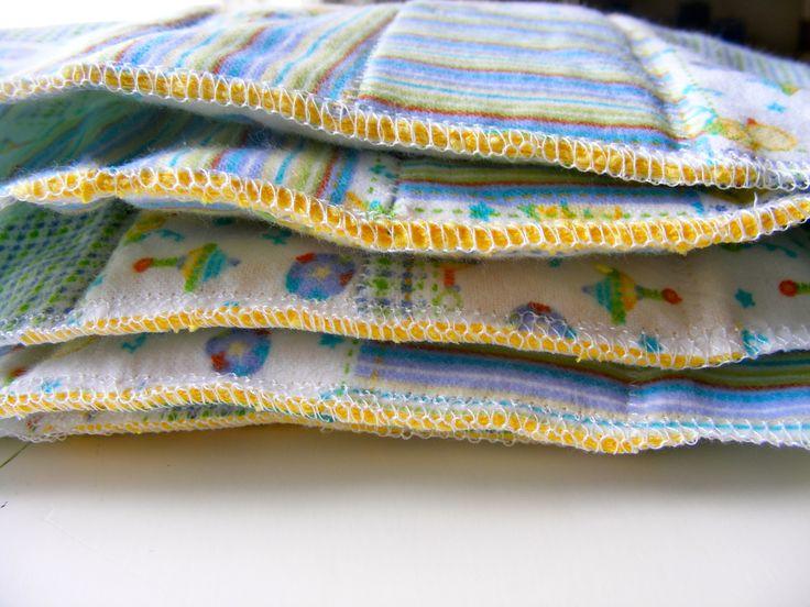 DIY sew prefold diapers