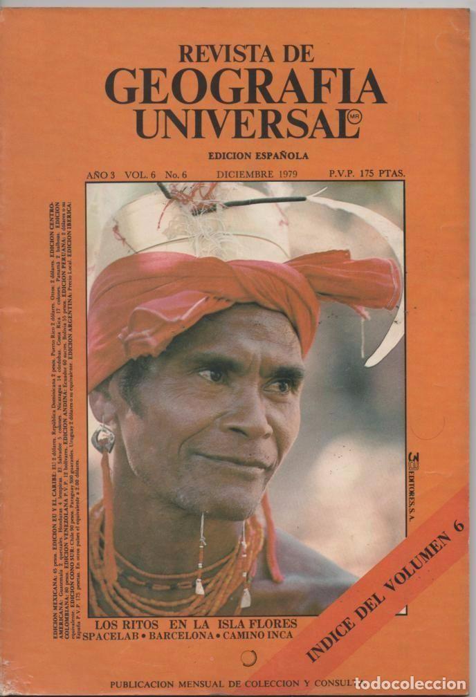 REVISTA DE GEOGRAFÍA UNIVERSAL Nº 6 DICIEMBRE 1979 LOS RITOS EN LA ISLA FLORES SINCRETISMO RELIGIOSO