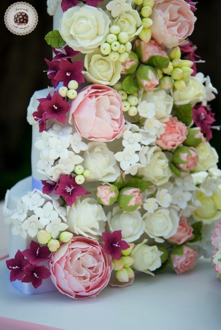 Opulent Bloom Wedding Cake