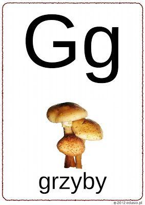 litera g do wydrukowania