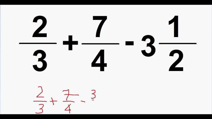 Curso de Matemática https://youtu.be/rD_E3HdUHfo Operações com frações Adição soma subtração multipli...
