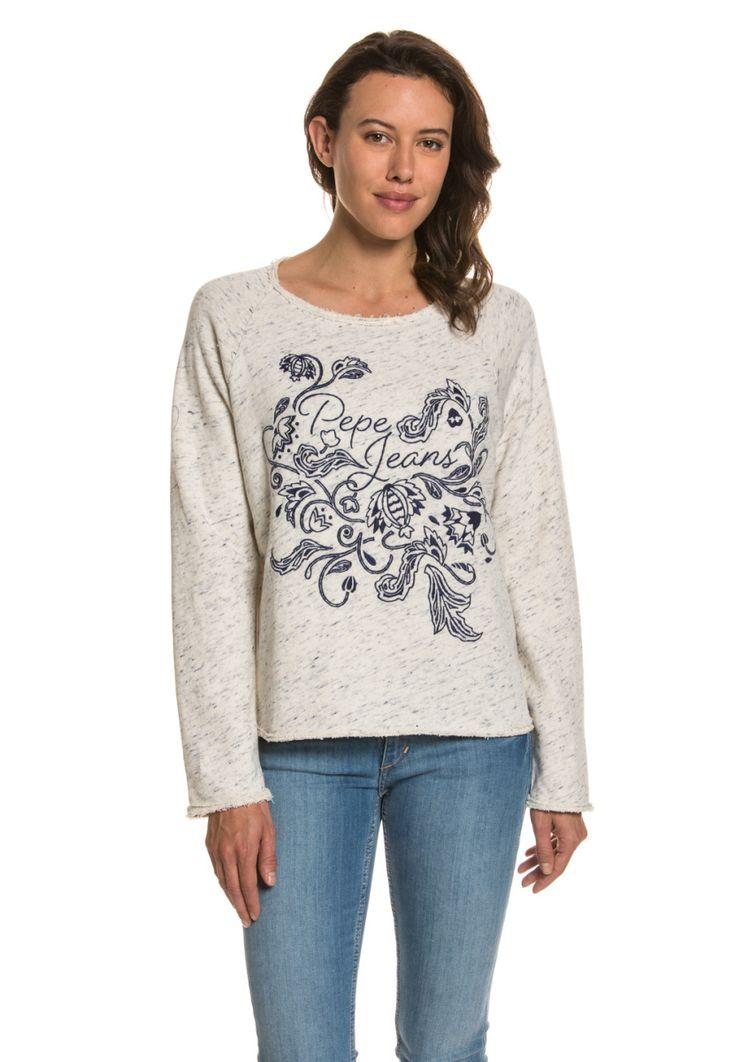 Pepe Jeans Pullover Beatriz, Rundhals, gerader Schnitt grau Jetzt bestellen unter: https://mode.ladendirekt.de/damen/bekleidung/pullover/rundhalspullover/?uid=4cdca934-0a86-575c-be14-8cc54b1f1f4d&utm_source=pinterest&utm_medium=pin&utm_campaign=boards #halspullover #pullover #tops #bekleidung Bild Quelle: brands4friends.de