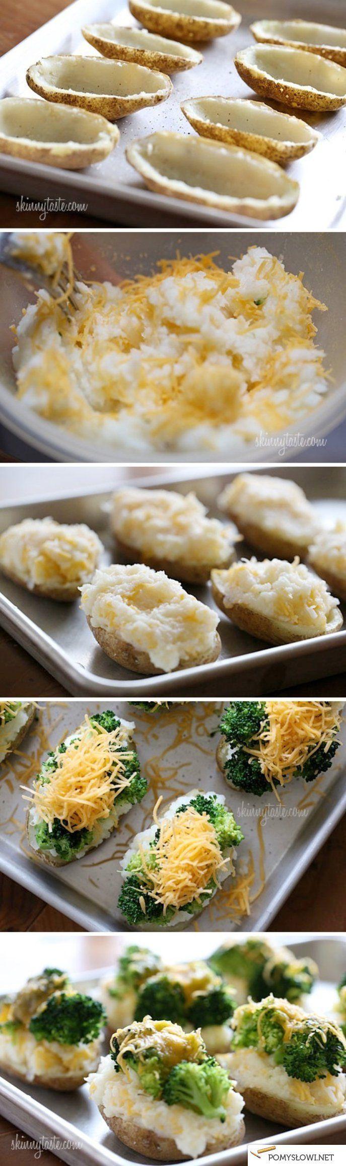 ziemniaczki nadziewane brokułami i serem ;__;