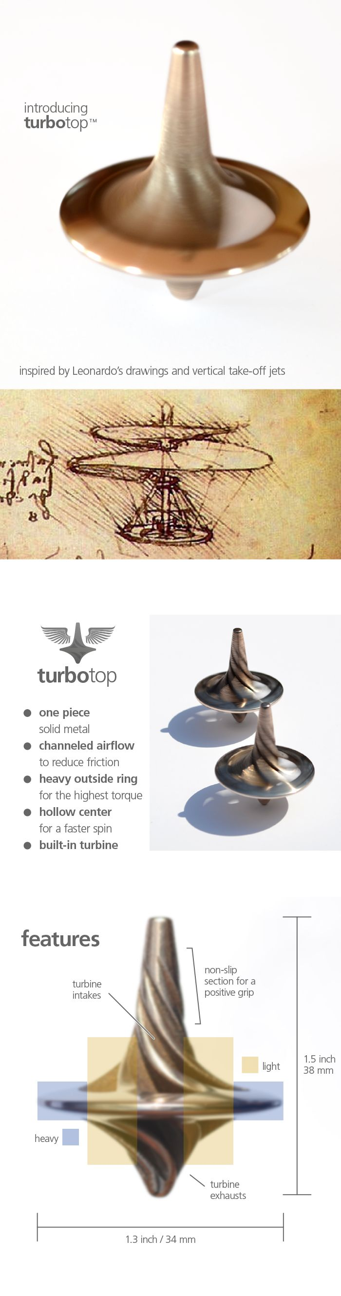 turbotop™ - a mesmerizing spinning top with turbo blades by Tom Leszczynski — Kickstarter