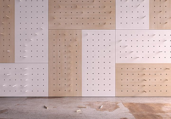 Seriously, the greatest idea ever! I smell a DIY project in the making. Pegboard « Koskela