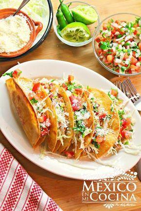 Tacos dorados de papa receta