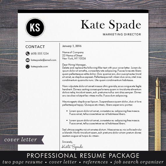 Professional Resume Template  CV Template  Mac or PC